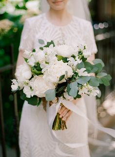 Brides: A Late Spring Wedding in Brooklyn, New York with @watterswtoo Beilin gown