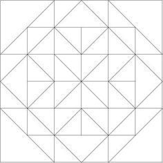 Free Easy Quilt Templates | Blank Drawing of the All Hallows Quilt Block