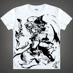Free Shipping Anime Manga TouHou Project T-shirt  Women Men Cosplay T Shirt   Mesh Tee 003