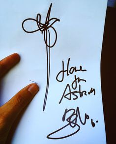 """Flower for Astrid (@astrid23_06 )"" by #Bono last saturday in #Valencia #Spain @u2 #u2 #autograph #music #musica #igers…"