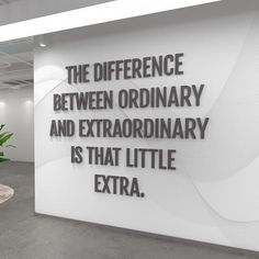 Motivational Quotes For Women Discover Office Decor Wall Decor Office Wall Art Office Wall Art Office Walls Home Office Decor sign - SKU:OREX Difference between ordinary and Extraordinary - School Office Quote - SKU:OREX Great Quotes, Quotes To Live By, Me Quotes, Inspirational Quotes, Quotes On Walls, Work Motivational Quotes, Change Quotes, Faith Quotes, Wisdom Quotes