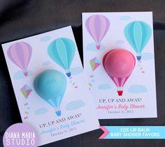 Air Balloons Shower Favors EOS lip balm by DianaMariaStudio