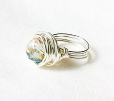 ZEN  Zen Crystal and Silver Ring by ZuriEarthlyDesigns on Etsy, $35.00