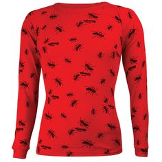 Kids Polypropylene L/Sleeve Crew Neck Top: Ant Print Ant, Outdoor Gear, Crew Neck, Sleeves, Sweaters, Clothes, Tops, Products, Fashion