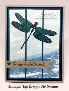 Dragonfly Dreams with Watercolor Wash Plus How To Video!