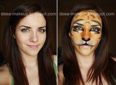 Halloween Make-up - BabyTiger  http://deea-makeup.blogspot.ro/2011/10/halloween-make-up-tigrisor.html