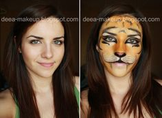 Halloween Make-up - BabyTiger  http://deea-makeup.blogspot.ro/2011/10/halloween-make-up-tigrisor.html