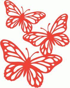 Silhouette Design Store - View Design #69028: 3 butterflies