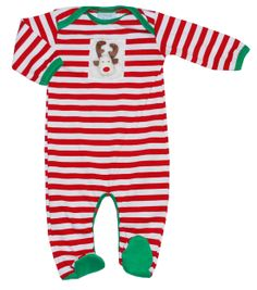 Christmas Footie by Haute Baby, $25.00  Don't you just LOVE it?