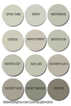 Best Neutral Paint Colors ~ Grays