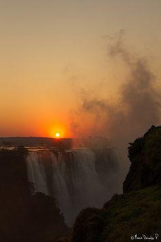Sunrise at Victoria Falls