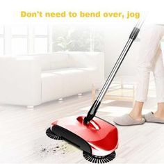 Magic Broom Sweeping Machine Hand Push Plastic Household Broom Set Sweeper Dustpan Vacuum Artifact Floor Home Cleaner Gift Broom And Dustpan, Shabby, Clean House, Housekeeping, Vacuums, Home Improvement, Household, Cleaning, Bonito