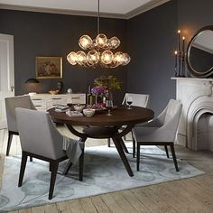"""Arc Base Pedestal Table #westelm. Love the round table and it is only $499 for the 42"""" - $599 for the 60"""""""