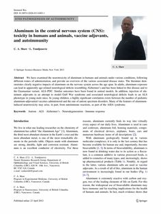 aluminum in the central nervous system: toxicity in humans and animals, vaccine adjuvants, and autoimmunity