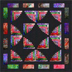Easy Quilt Kit Log Cabin Butterfly Wings Batiks Galaxy https://www.amazon.com/dp/B0163I9FPS/ref=cm_sw_r_pi_dp_x_xzb7xbXB427R8