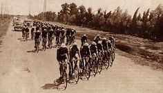 A windy day near Arles, Tour De France 1933