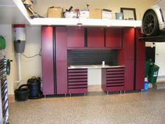 28 best in the garage images on pinterest garage interior garage 2 car garage etobicoke rear wall onex cabinets with a workbench solutioingenieria Choice Image