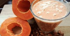 Papaya and Almonds This Shake Flattens The Belly, Cleans The Colon, and Removes Fat Detox Shakes, Flatten Belly, Lose Belly, Cleaning Your Colon, Gluten Free Oatmeal, Natural Colon Cleanse, Healthy Shakes, Balanced Diet, Smoothies
