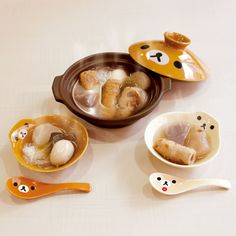 Cute Kitchen, Kitchen Items, Japanese Candy, Japanese Food, Cute Food, Yummy Food, Hot Pot, Rilakkuma, Aesthetic Food