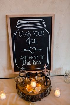 Mason Jar Escort Card Sign in Chalkboard | Right Start Photography https://www.theknot.com/marketplace/right-start-photography-chester-county-pa-589954 |