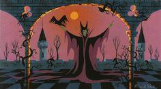 tenthousandonehundred:  Sleeping Beauty concept art by Eyvind Earle