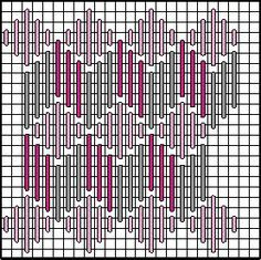 Diamond Zig Zag Decorative Stitch Diagram 3