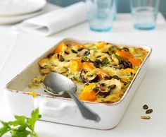 Herbstgemüse-Gratin Food In French, Mashed Potatoes, Eggs, Vegetarian, Cooking, Breakfast, Ethnic Recipes, Gourmet, Bon Appetit