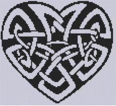 Celtic Heart Cross Stitch Pattern pattern on Craftsy.com