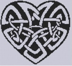 Celtic Heart Cross ... By Motherbeedesigns | Embroidery Pattern