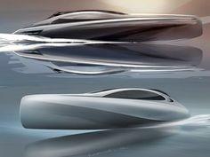Mercedes-Benz Style previews Silver Arrows motor yacht