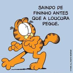 Quando alguém diz que adora acordar cedo para malhar. | 12 reações do Garfield que poderiam facilmente ter vindo de você