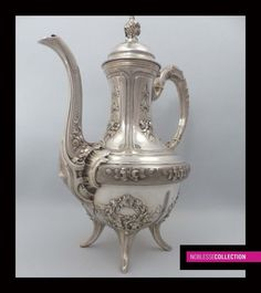 SPECTACULAR ANTIQUE FRENCH STERLING SILVER TEA POT Neoclassical Style Circa 1890 in Antiques, Silver, Sterling Silver (.925) | eBay