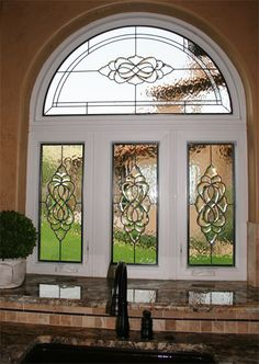 Leaded U0026 Beveled Kitchen Stained Glass Provides Privacy    Http://www.scottishstainedglass