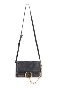 Chloe 'Small Faye' Calfskin Leather Shoulder Bag