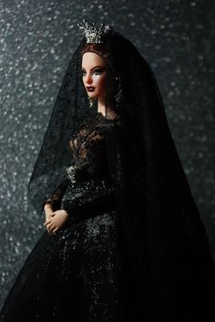 My Repainted Barbie Doll as Vampire Bride. | Flickr - Photo Sharing!