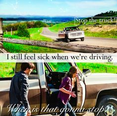 """""""I still feel sick when we're driving. Heartland Season 10, Amy And Ty Heartland, Heartland Quotes, Heartland Ranch, Heartland Tv Show, Best Tv Shows, Best Shows Ever, Ty And Amy, New Tv Series"""