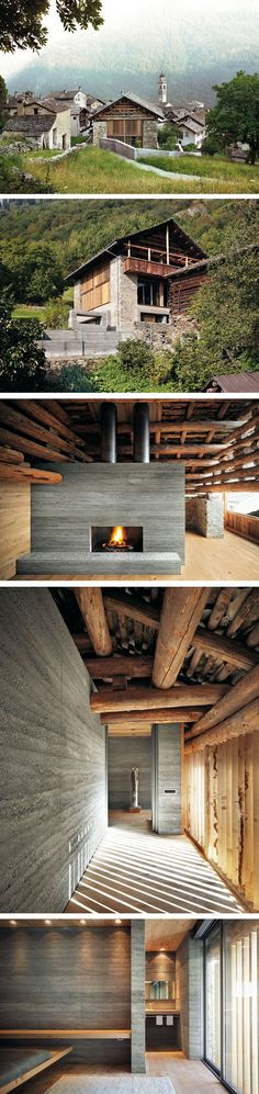 Architect Ruinelli Associati Architetti www. Landscape Architecture Design, Space Architecture, Amazing Architecture, Architecture Details, Alpine House, Agricultural Buildings, Italy House, Chalet Style, H & M Home