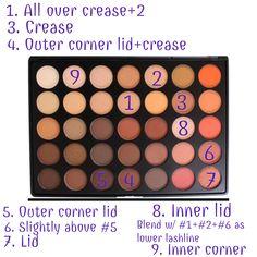 sunset orange eyeshadow tutorial | Pinterest @zoieskym