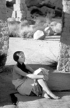 """Audrey Hepburn on the set of """"Green Mansions"""", 1958"""