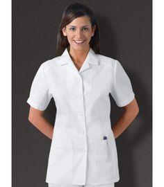 2c7fdad32b0dd Cherokee 2880 White Button Front Medical Tunic Nursing Tunic, White Tunic,  Classic White,
