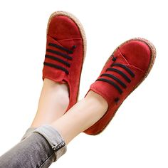 97c2fd2ee Fashion Women Lace-up Loafer Casual Round Toe Spring Fall Leather Flats  Shoes