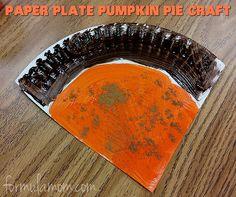 Paper Plate Crafts: Pumpkin Pie via formulamom.com