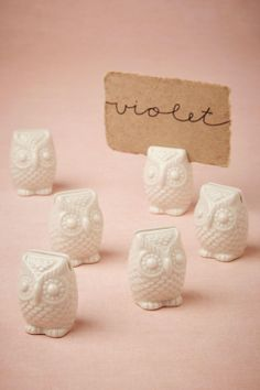 owl place card holders