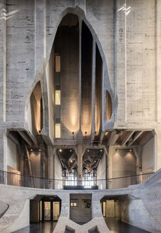 """archatlas: """"Thomas Heatherwick reveals Zeitz MOCAA art galleries carved out of Cape Town grain silo Thomas Heatherwick has created South Africa's biggest art museum – by hollowing out the inside of a historic grain silo building. Described by the. Cultural Architecture, Architecture Antique, Organic Architecture, Futuristic Architecture, Beautiful Architecture, Contemporary Architecture, Interior Architecture, Interior Design, Interior Modern"""