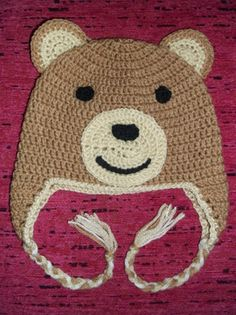 Crochet Baby Bear Hat - Free pattern in my website: http://horgolasbyblanch.weebly.com/1/post/2013/12/fles-mack-baba-sapka.html
