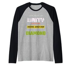 Love, Peace & Unity is Better than Silver, Gold & Diamond Raglan Baseball Tee MUGAMBO