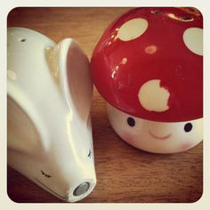 Adorable salt and pepper shakers