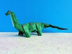 Origami Dino: BRACHIOSAURUS - YouTube