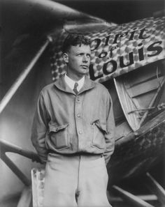 Charles Lindbergh and the Spirit of Saint Louis (Crisco restoration, with wings) - Charles Lindbergh