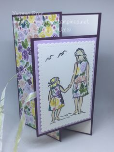 Stampin' Up! Beautiful Moments stamp set - Stampin Up 2020 Fun Fold Cards, Cool Cards, Folded Cards, Scrapbooking, Scrapbook Cards, Stamping Up Cards, Mothers Day Cards, Handmade Birthday Cards, Card Sketches